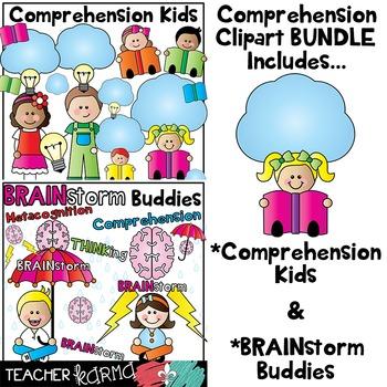 Reading comprehension bundle by. Brainstorm clipart kids