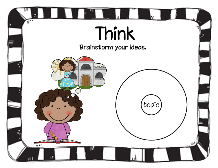 Brainstorm clipart kids. Finally in first the