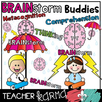 Brainstorm clipart kids. Brainstorming buddies reading comprehension