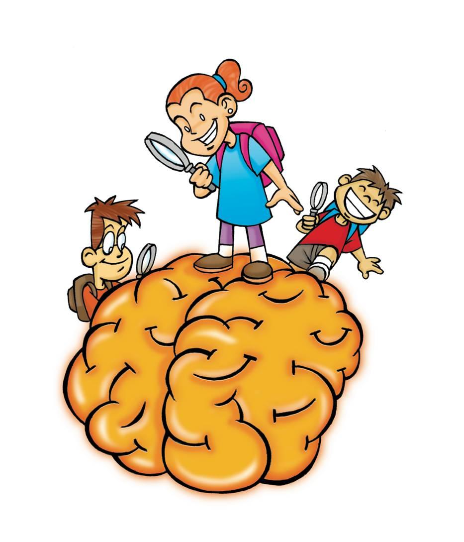Brain for free clip. Brainstorm clipart kids