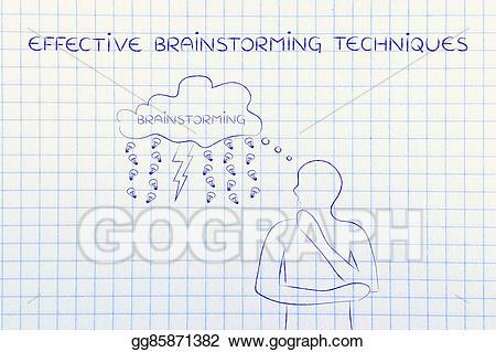 Brainstorm clipart lightning. Stock illustration bolt rain