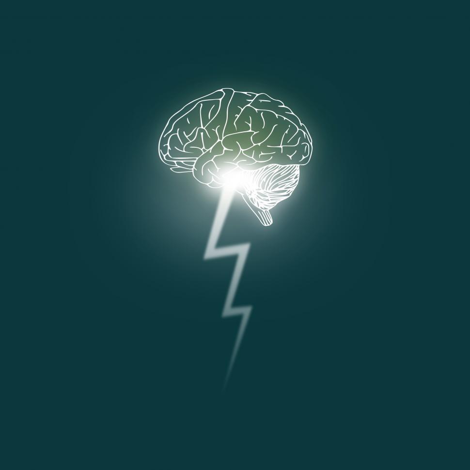 Get free stock photo. Brainstorm clipart lightning