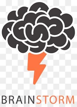 Vector png images vectors. Brainstorm clipart lightning