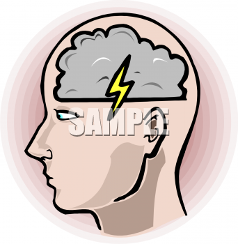 Index of thumbs nature. Brainstorm clipart lightning