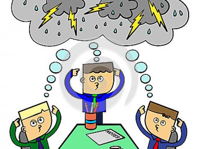 Storm cliparts free download. Brainstorm clipart lightning