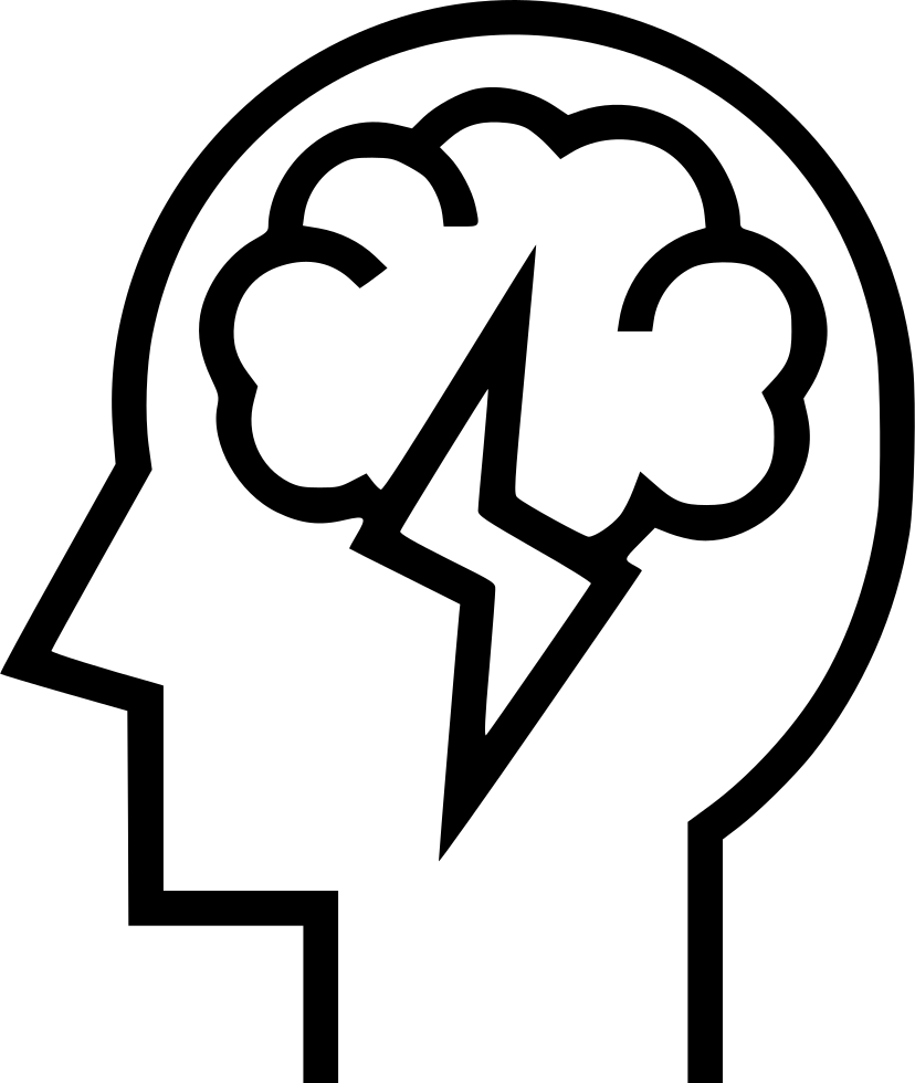 Brainstorm svg png icon. Thoughts clipart brain storm
