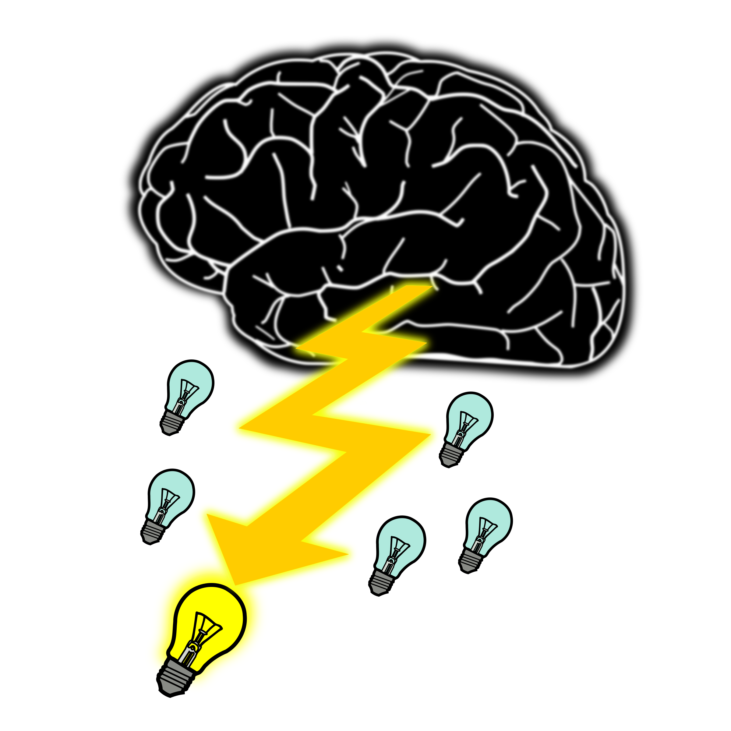 Brainstorming icon symbol sign. Thoughts clipart brain storm