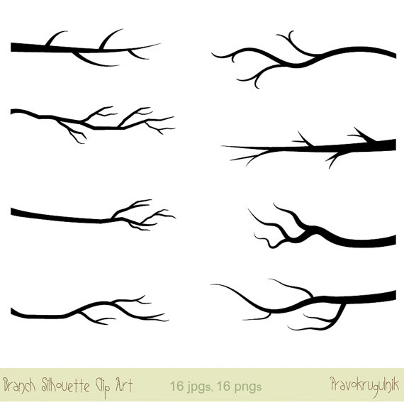 Branch clipart black and white. Clip art silhouette tree