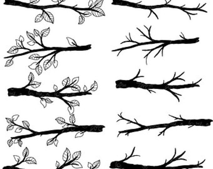 Branch clipart black and white. Silhouette tree clip art