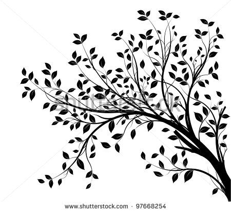 Branch clipart black and white. Tree free trees