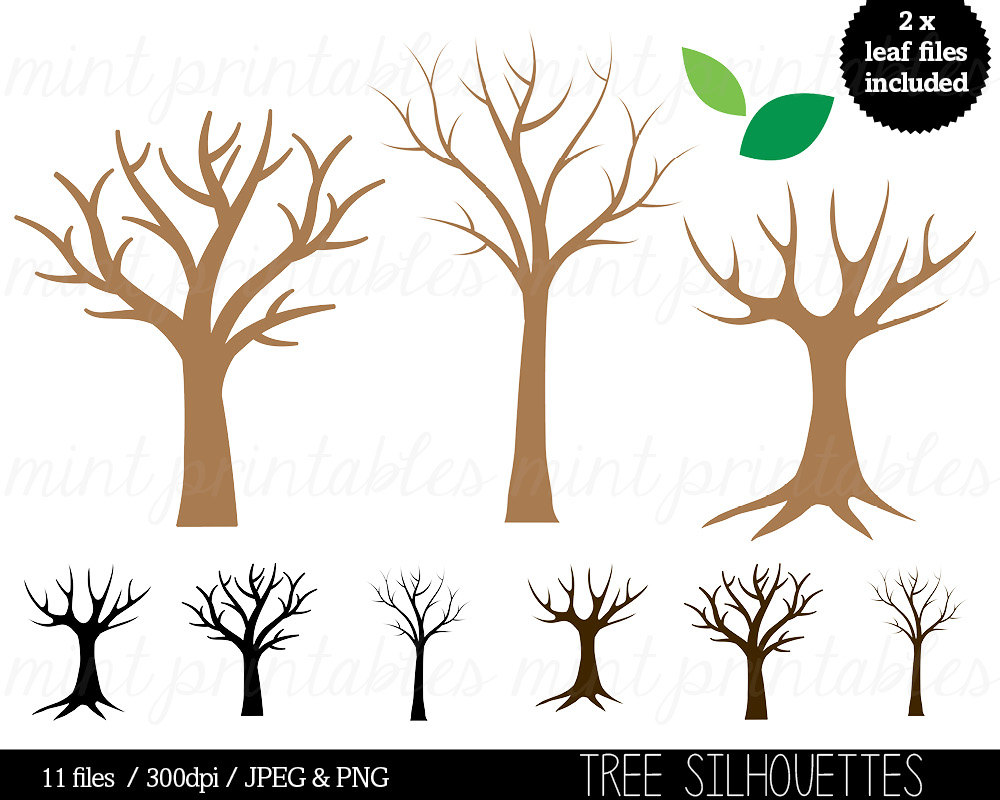 Branch clipart clip art tree. Silhouette trees family