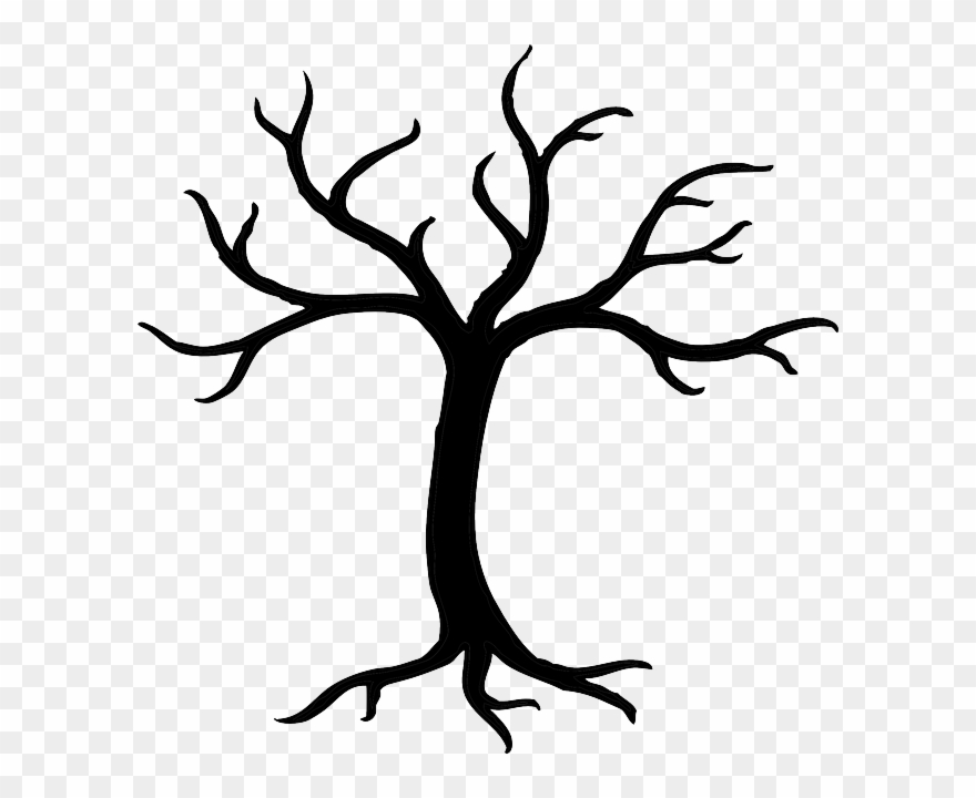 Dead dried branches trunk. Branch clipart clip art tree