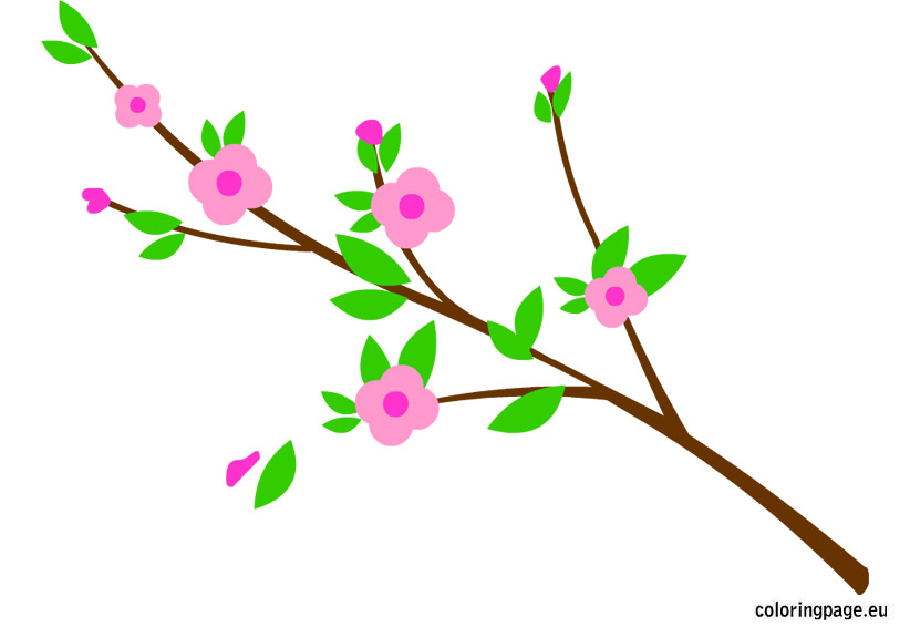 Floral clipart branch. Flower clip art library