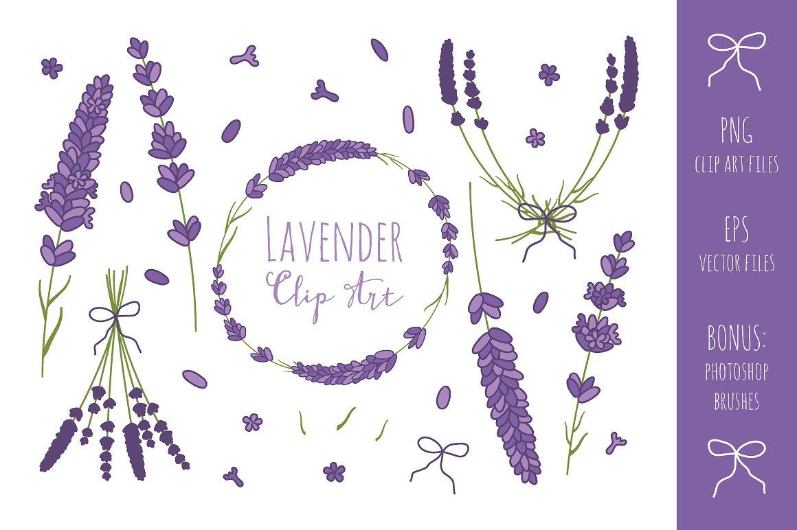 Lavender branches clip art. Branch clipart font
