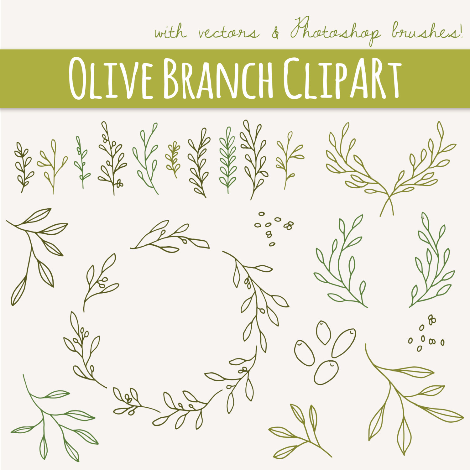 Branch clipart font. Clip art olive branches