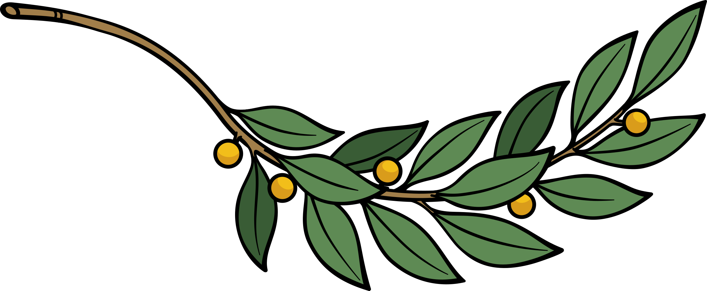 Branch icons png free. Laurel clipart green