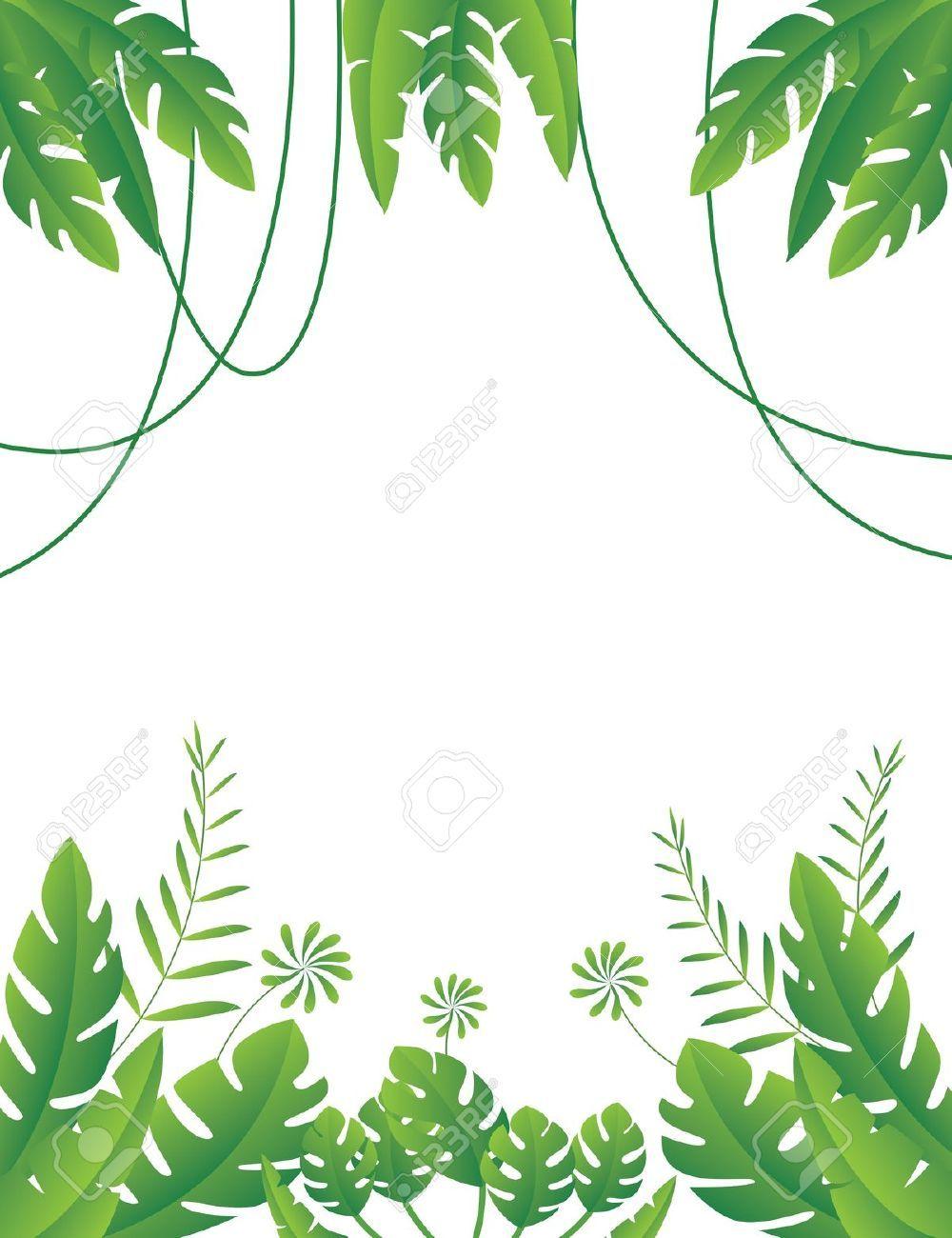 Branch clipart jungle. Foliage safari party pinterest
