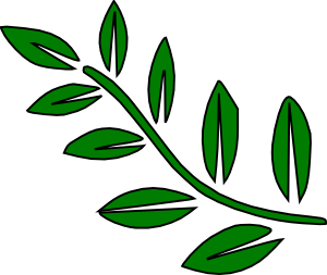 Branch clipart leave clipart. Green tree clip art