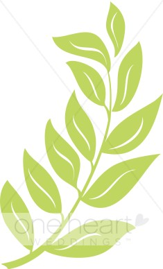 Green wedding leaf. Branch clipart leave clipart