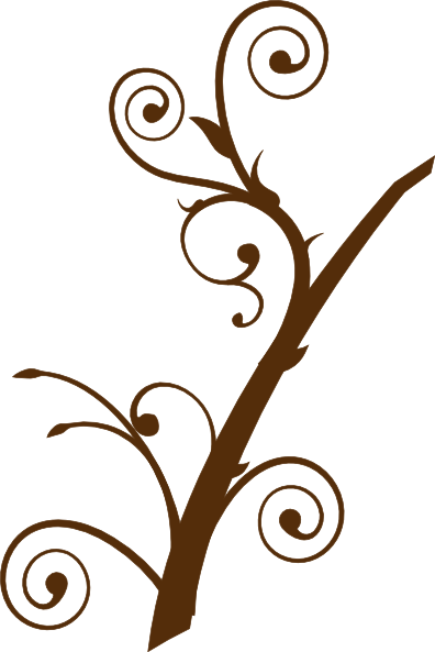 Brown tree clip at. Branch clipart line art