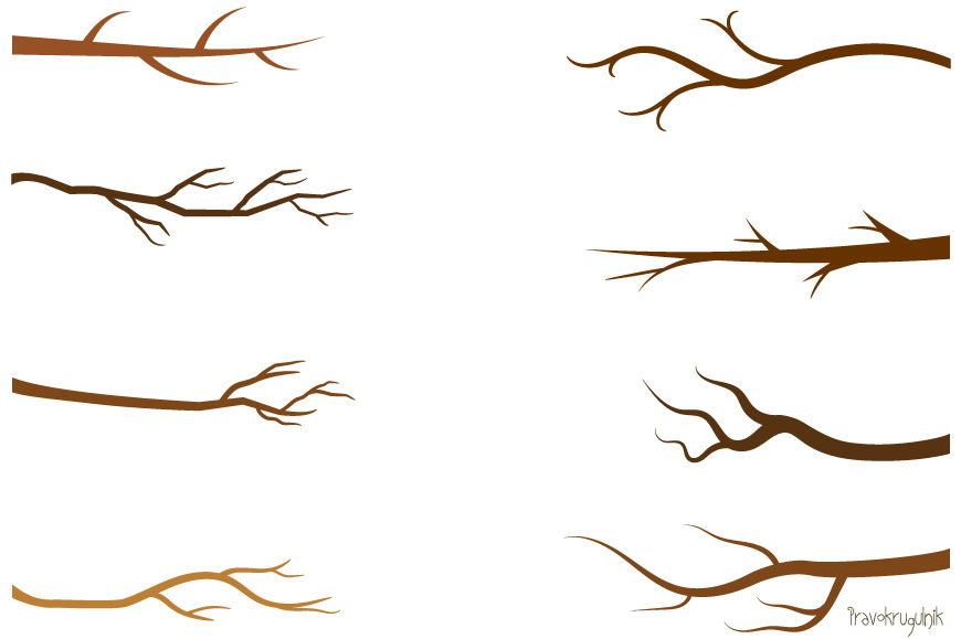 Branch clipart line art. Tree green leaf branches