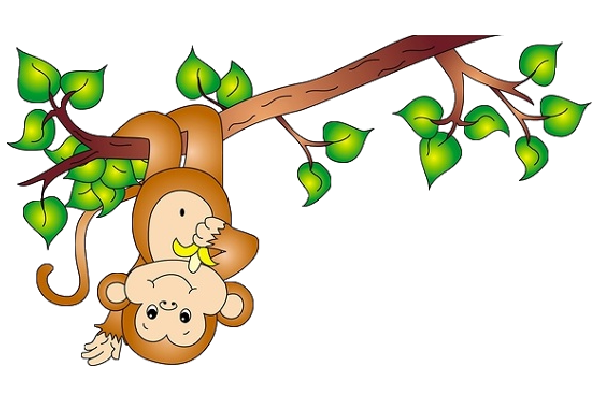 Vines clipart animated. Monkey on a vine