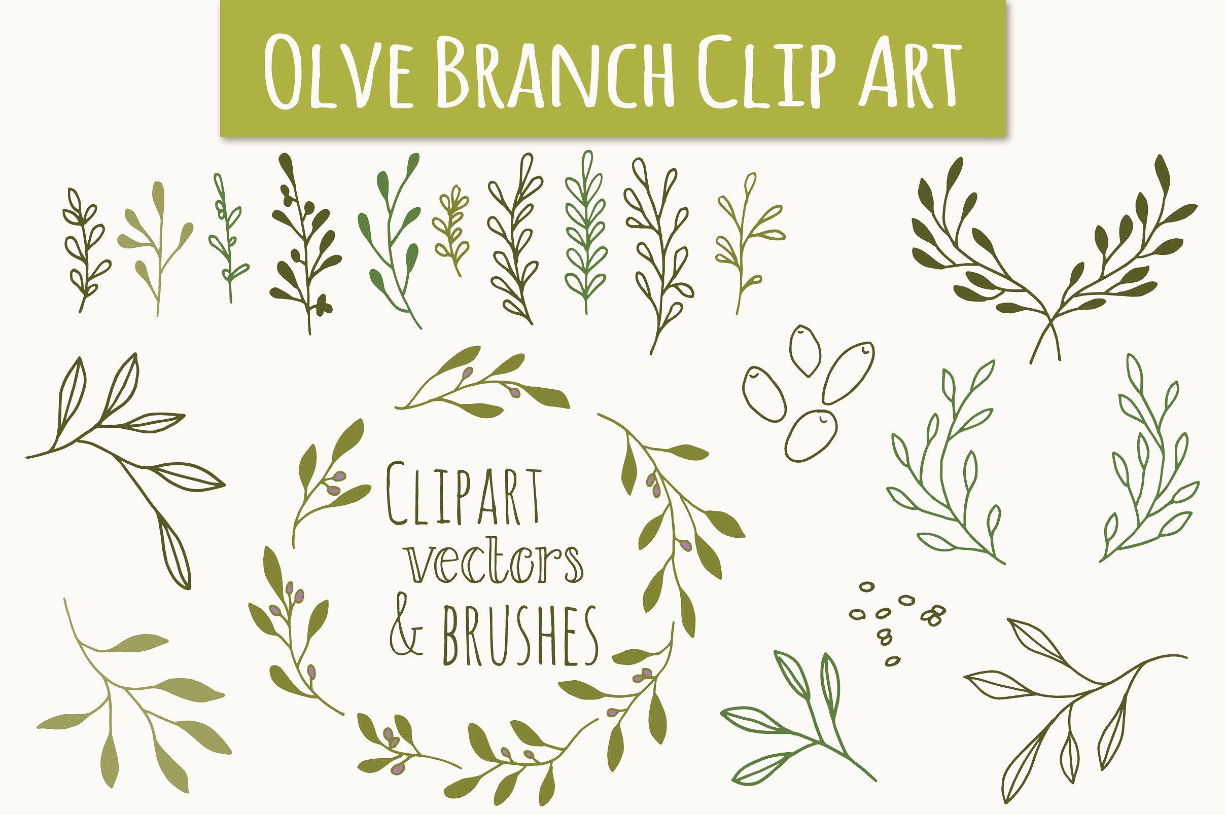 Branch clipart olive branch. Clip art vectors graphics