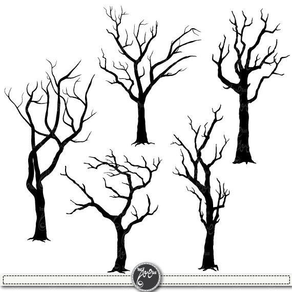 Tree silhouettes clip art. Clipart trees shape