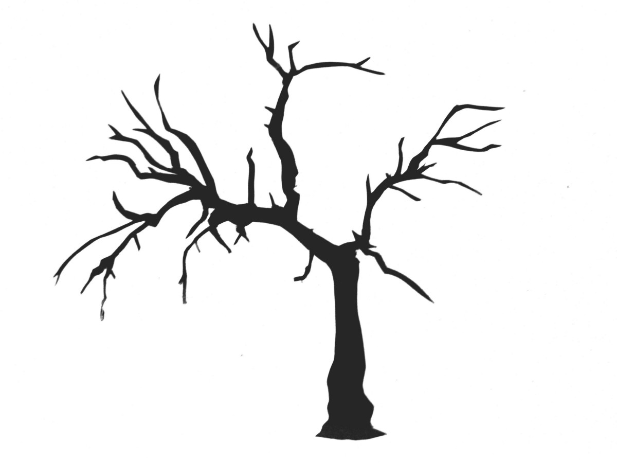 Simple silhouette tree at. Branch clipart sanga