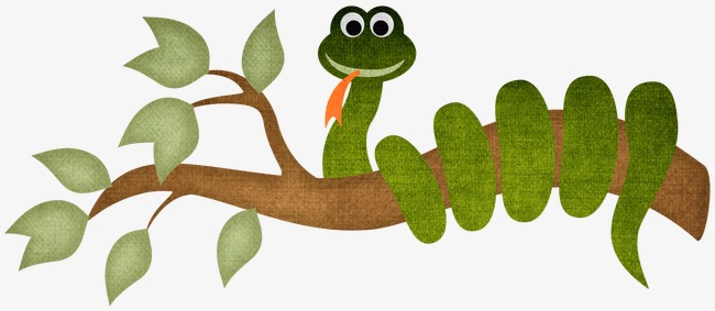 On a tree branches. Snake clipart branch