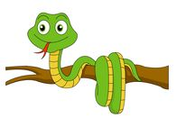 Reptiles clip art pictures. Snake clipart branch