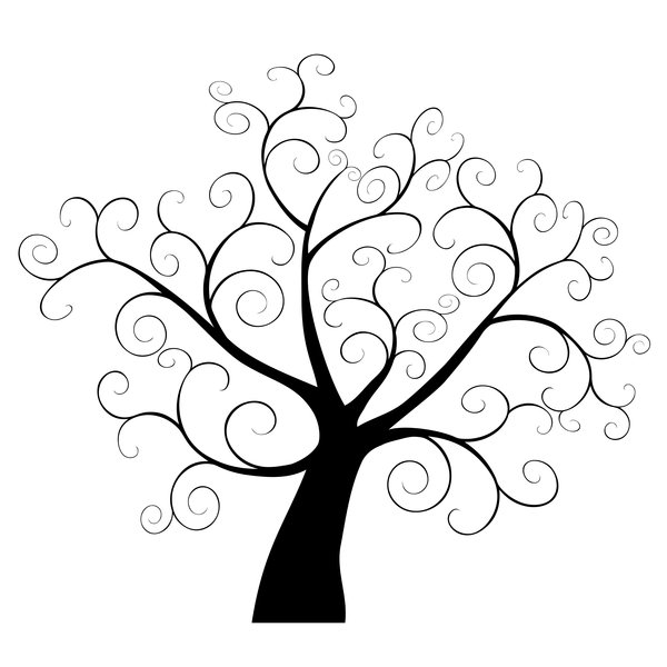 Free swirly branch cliparts. Clipart trees swirl