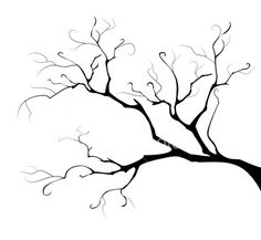 Branch clipart tree limb. Deciduous bare with empty