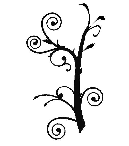 Clipart trees swirl. Branch vine clip art
