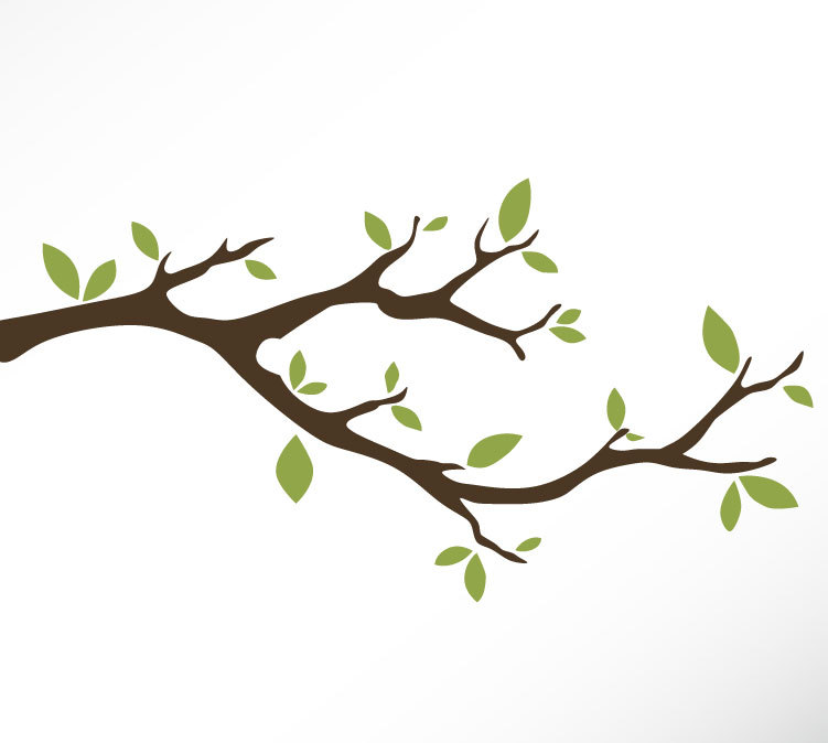 Tree with branches drawing. Branch clipart wood branch