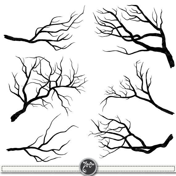 Silhouettes clip art pack. Branch clipart wood branch
