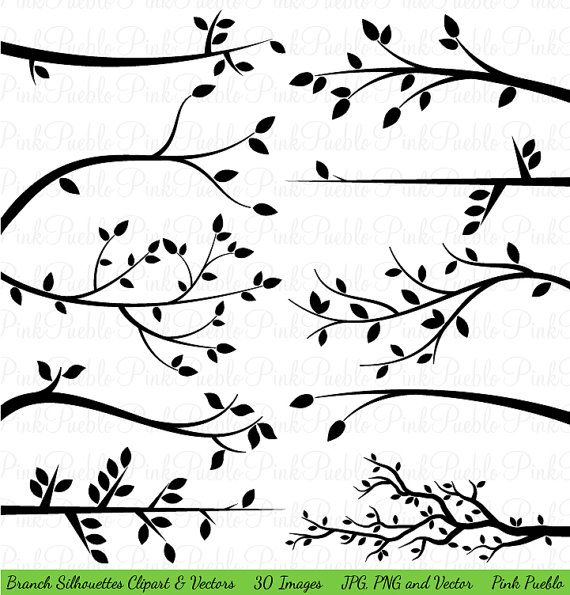 Silhouettes clip art tree. Branch clipart wood branch