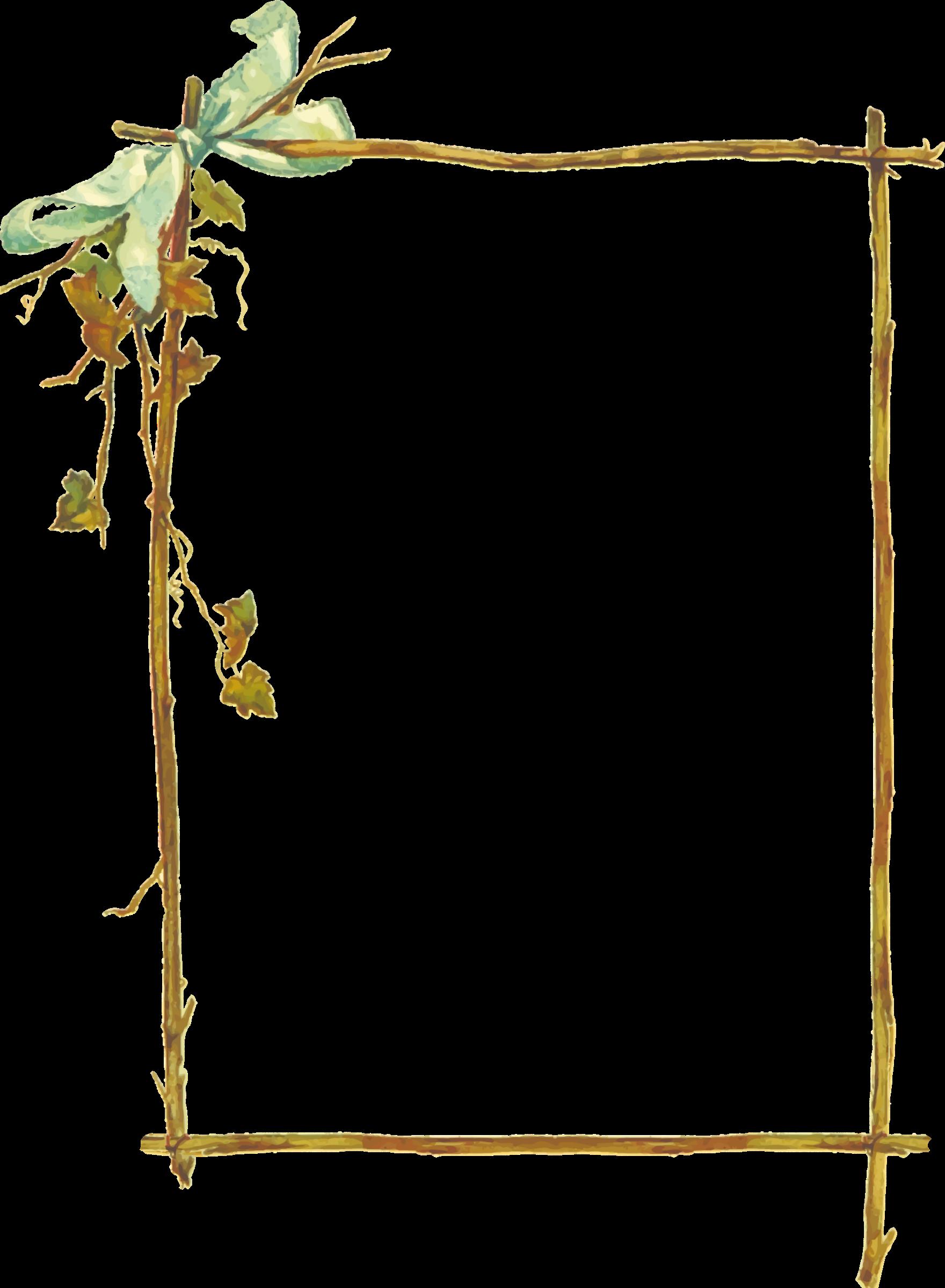 Frame big image png. Branch clipart wooden stick