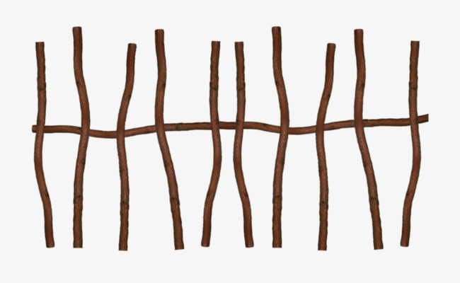 Branch clipart wooden stick. Fence bending png image