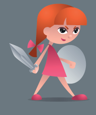 Little knight the arts. Brave clipart brave girl