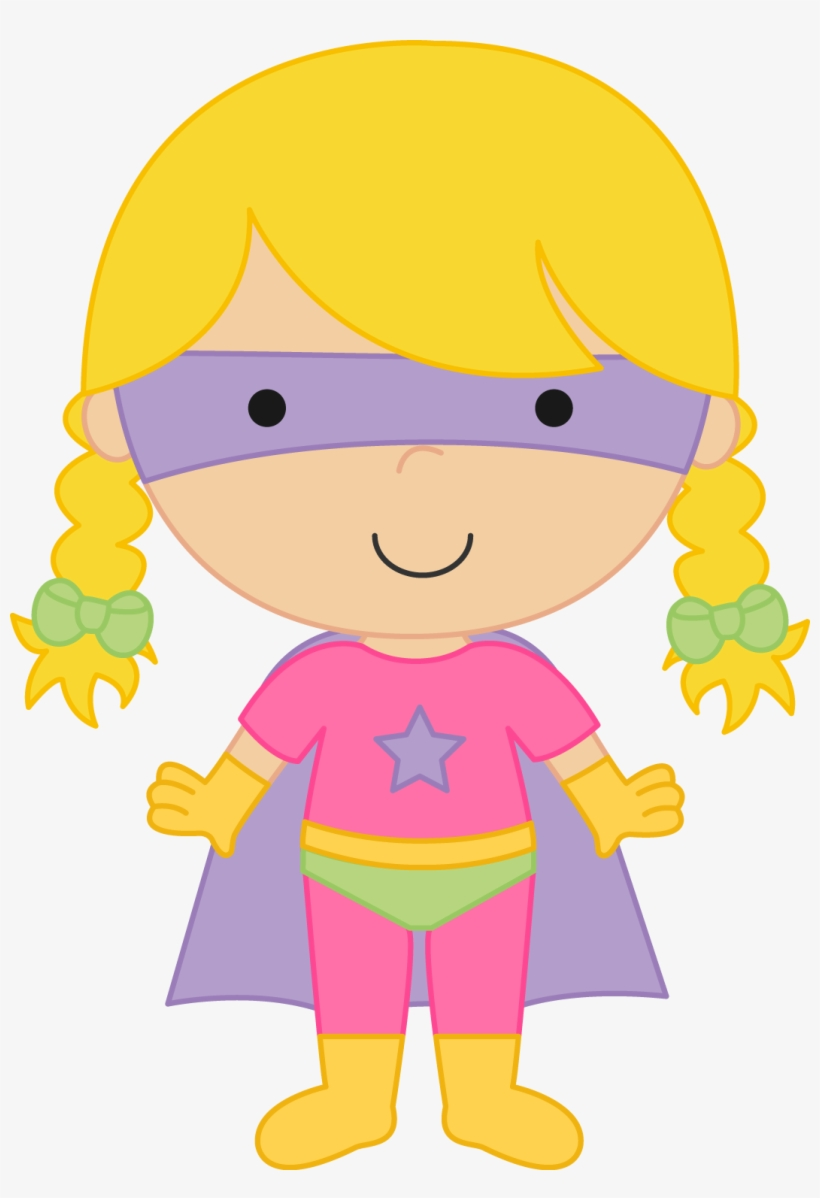 Brave clipart brave girl. Superhero children pictures