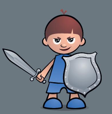 Little knight the arts. Brave clipart brave person