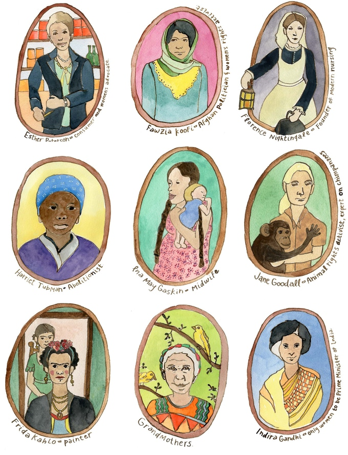 Women art cards by. Brave clipart brave woman