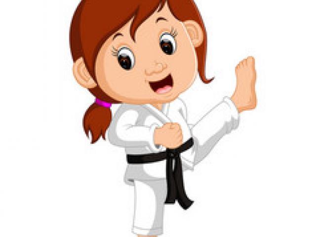 Brave clipart brave woman. Karate x free clip