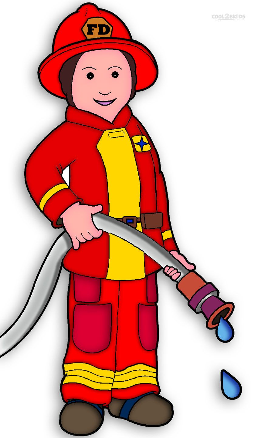 Free printable coloring pages. Fireman clipart worker indian