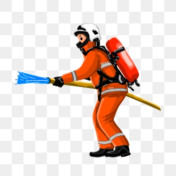 Fireman clipart vector. Free download brave png