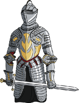 Knight clipart medieval. With sword the arts