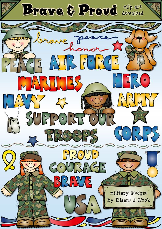 Brave clipart preschool. Support our troops by