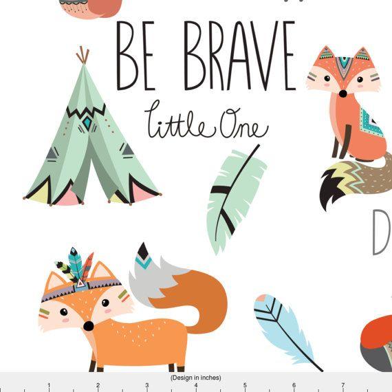 Brave clipart preschool. Be little one fabric