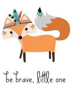 Brave clipart preschool. Be tribal fox nursery